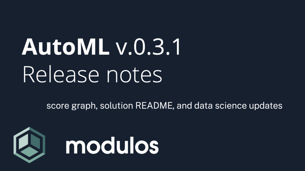 Modulos AutoML - release notes