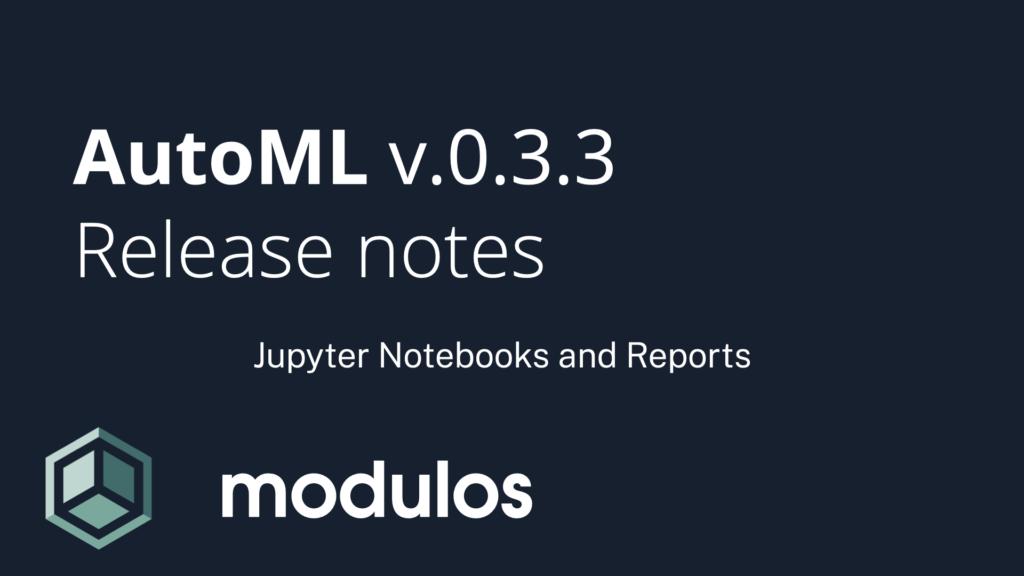 Modulos AutoML release notes